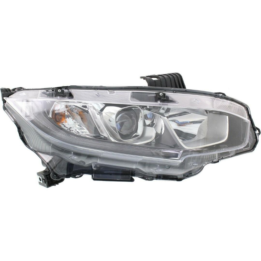 Honda Civic Coupe P46871 Head Lamp Assy; Rh ; Halogen Type